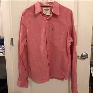 Abercrombie Muscle Red and White Shirt